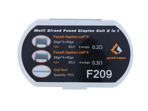 Geek Vape N80 Mutli Strand Fused Clapton Coils